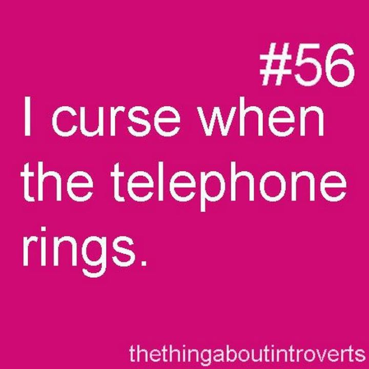 "75 Introvert Memes - ""I curse when the telephone rings."""