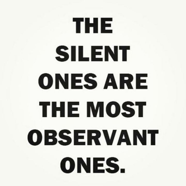 "75 Introvert Memes - ""The silent ones are the most observant ones."""