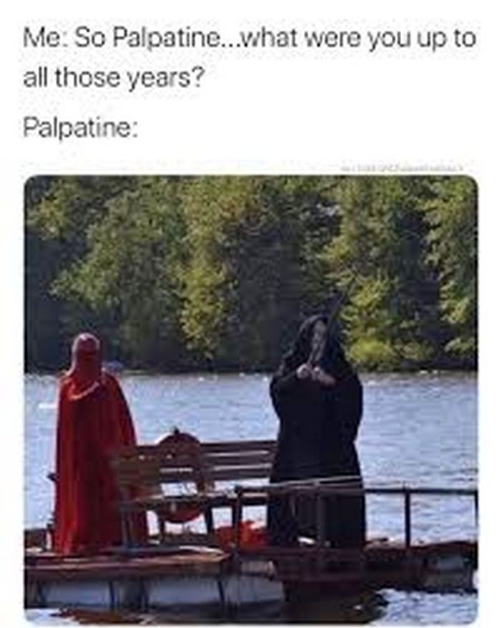 """61 Star Wars Memes - """"Me: So Palpatine...What were you up to all those years? Palpatine:"""""""