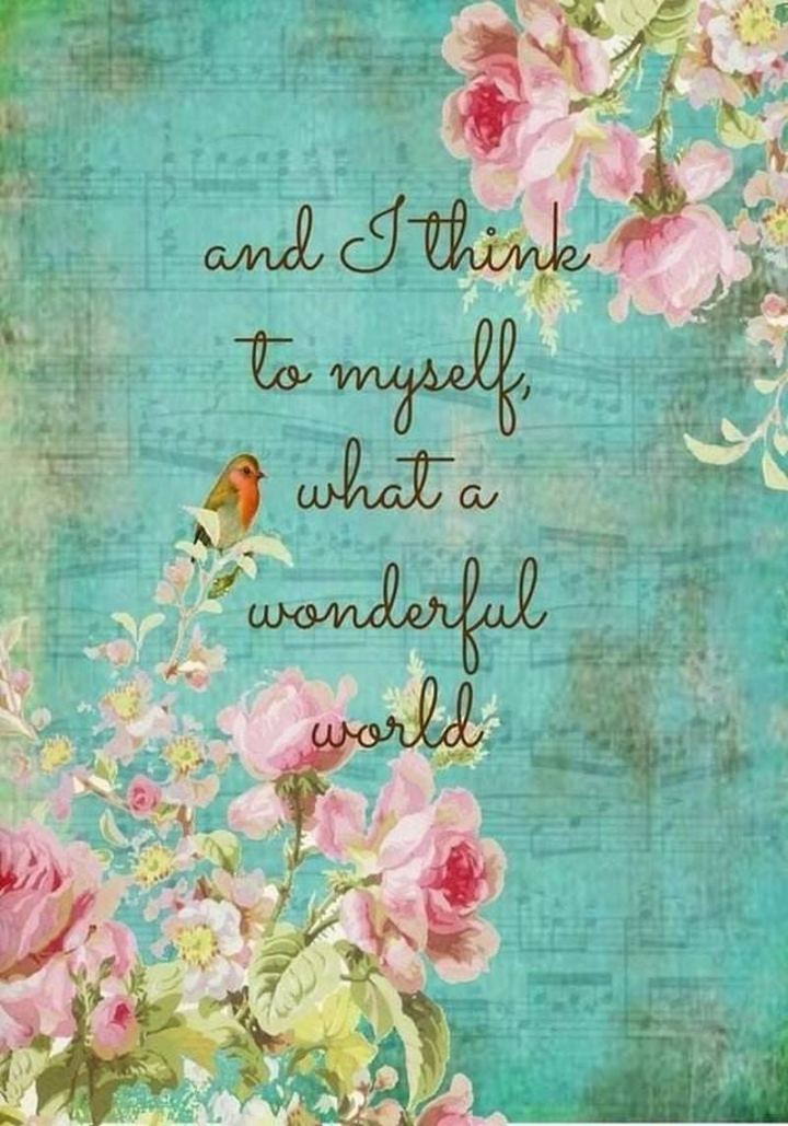 """51 Thursday Quotes - """"And I think to myself, what a wonderful world."""" - Louis Armstrong"""
