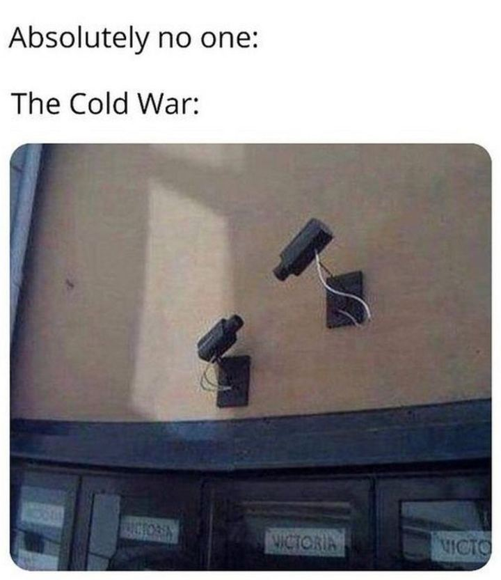"55 Funny History Memes - ""Absolutely no one. The cold war."""