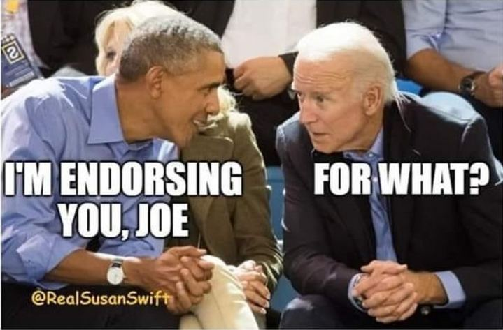 "51 Joe Biden Memes - ""I'm endorsing you, Joe. For what?"""