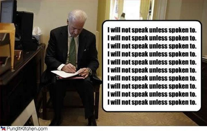 "51 Joe Biden Memes - ""I will not speak unless spoken to."""