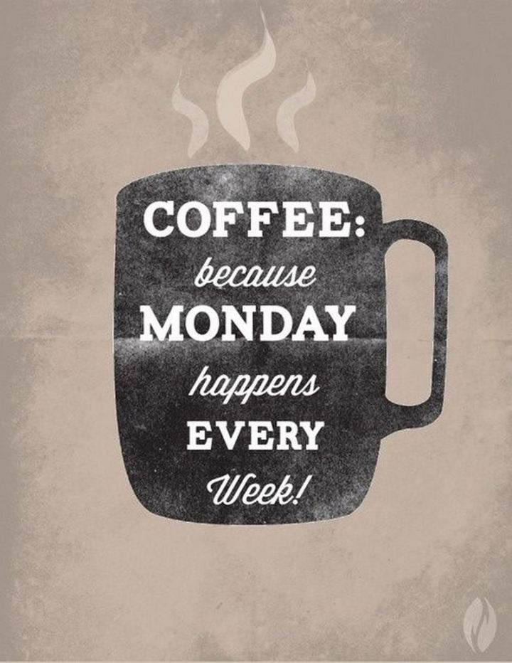 """Coffee: Because Monday happens every week!"""