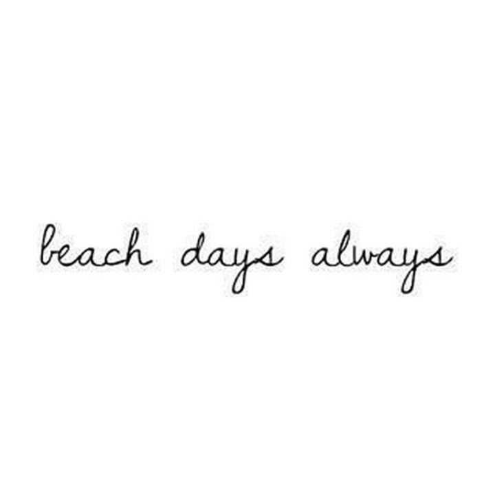 "71 Throwback Quotes and Instagram Captions - ""Beach days, always."""