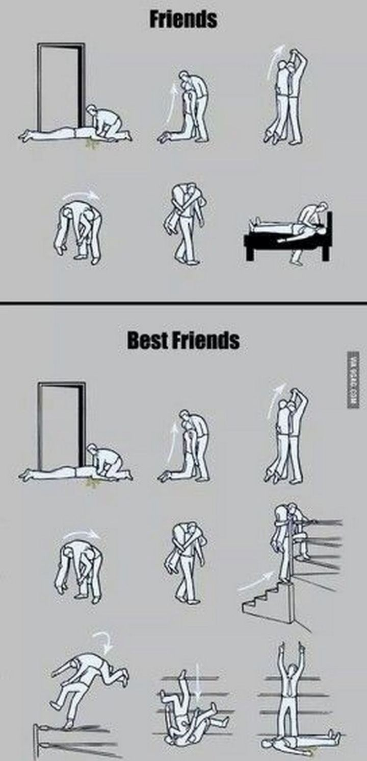 "51 Men Memes - ""Friends vs best friends."""