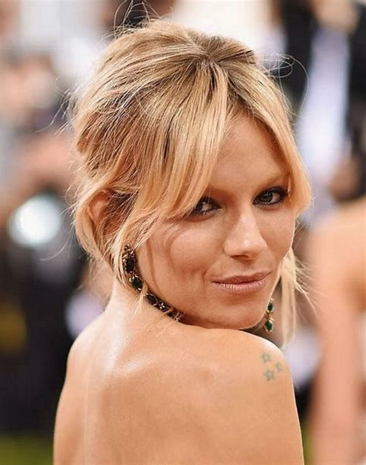 6 Celebrity Curtain Bangs - Sienna Miller