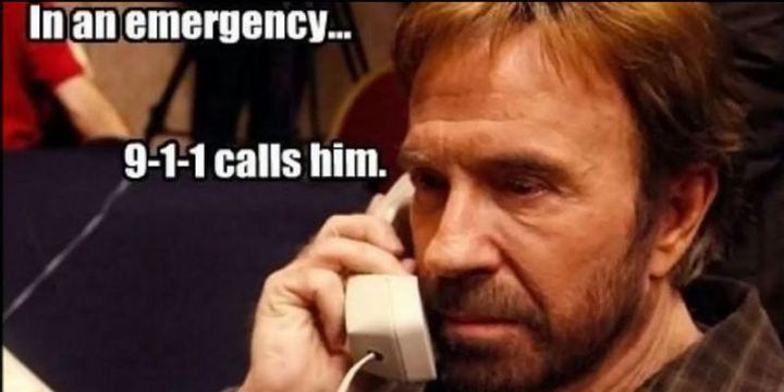 """In an emergency...9-1-1 calls him."""
