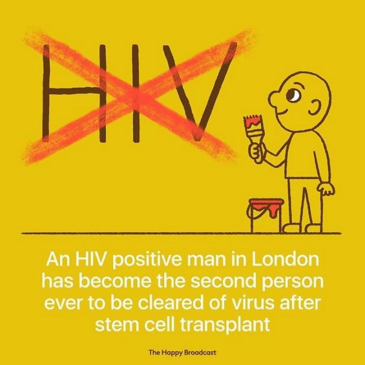 "The Happy Broadcast - ""An HIV positive man in London has become the second person ever to be cleared of the virus after stem cell transplant."""
