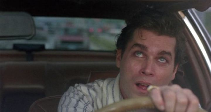 Henry's last day as a wiseguy was the hardest part of the film for Martin Scorsese to shoot. He wanted to properly show Henry's anxiety, paranoia, and racing thoughts caused by cocaine and amphetamine intoxication. Ray Liotta had never been under the influence of those drugs and found it difficult to accurately portray.