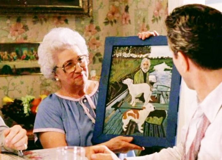 "The painting that Joe Pesci's character's mother brings out was actually painted by ""Wiseguy"" author Nicholas Pileggi's mother."