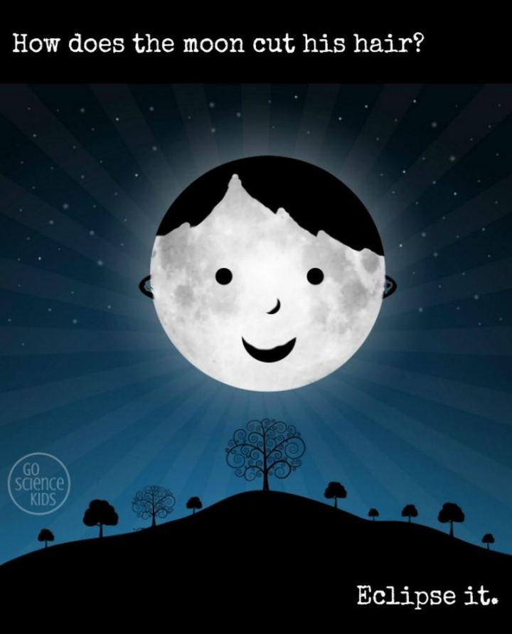 87 Funny Jokes for Kids - How does the moon cut his hair? Eclipse it.