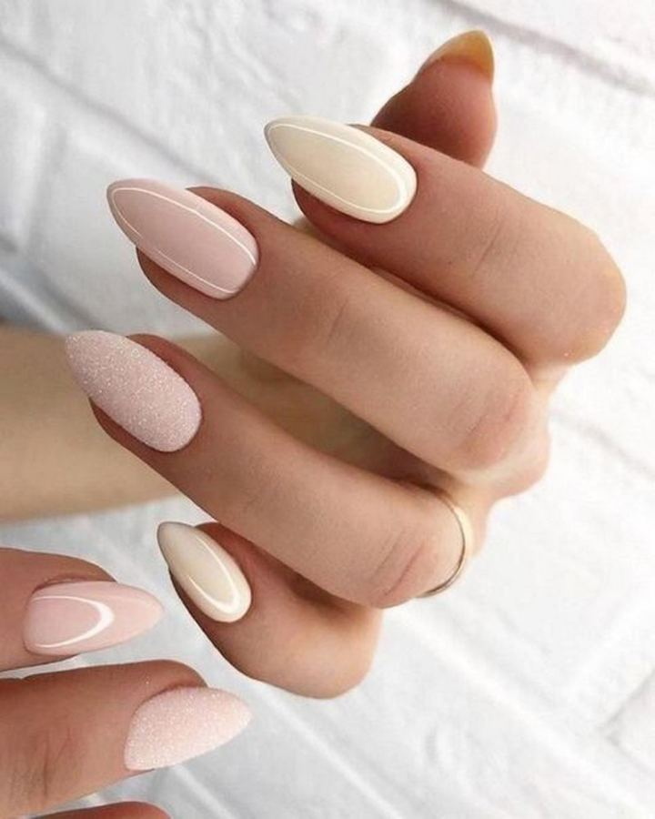 Beautiful almond-shaped nails.