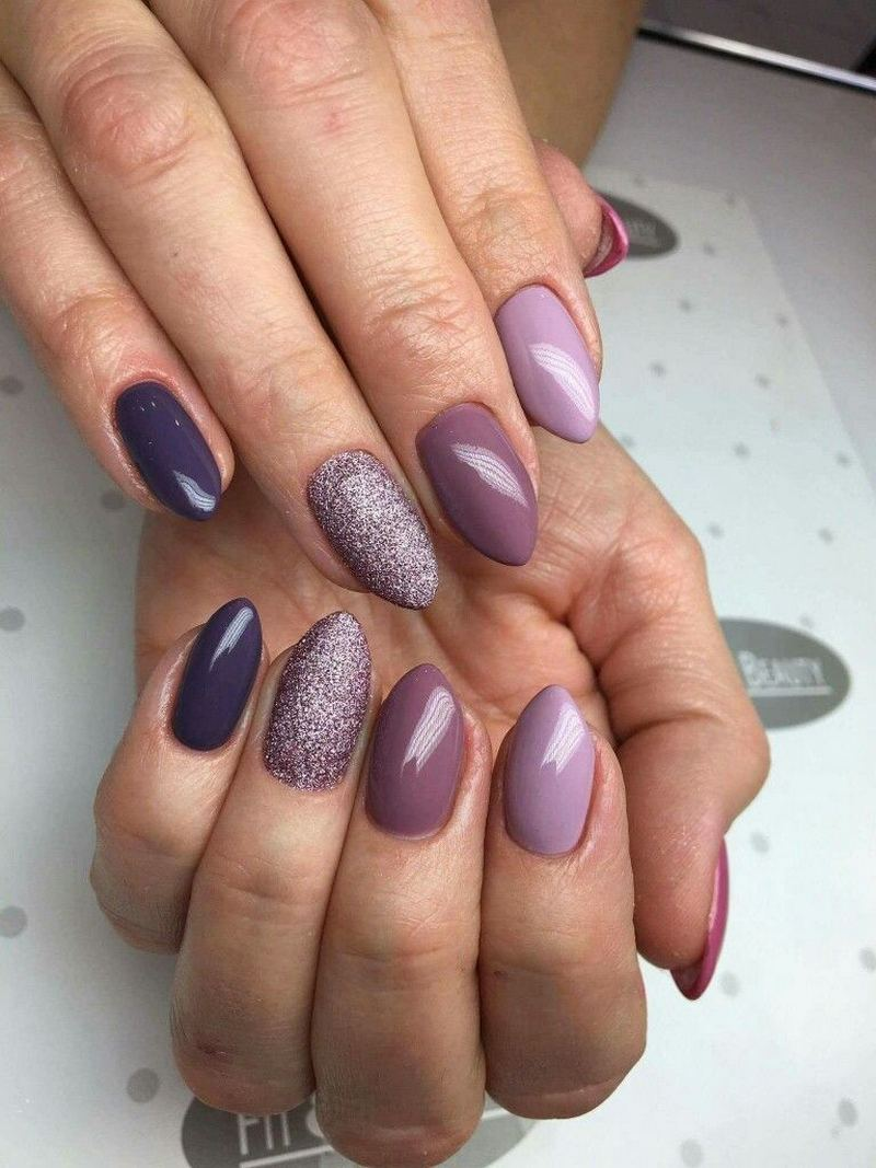 Beautiful mauve and purple shades.