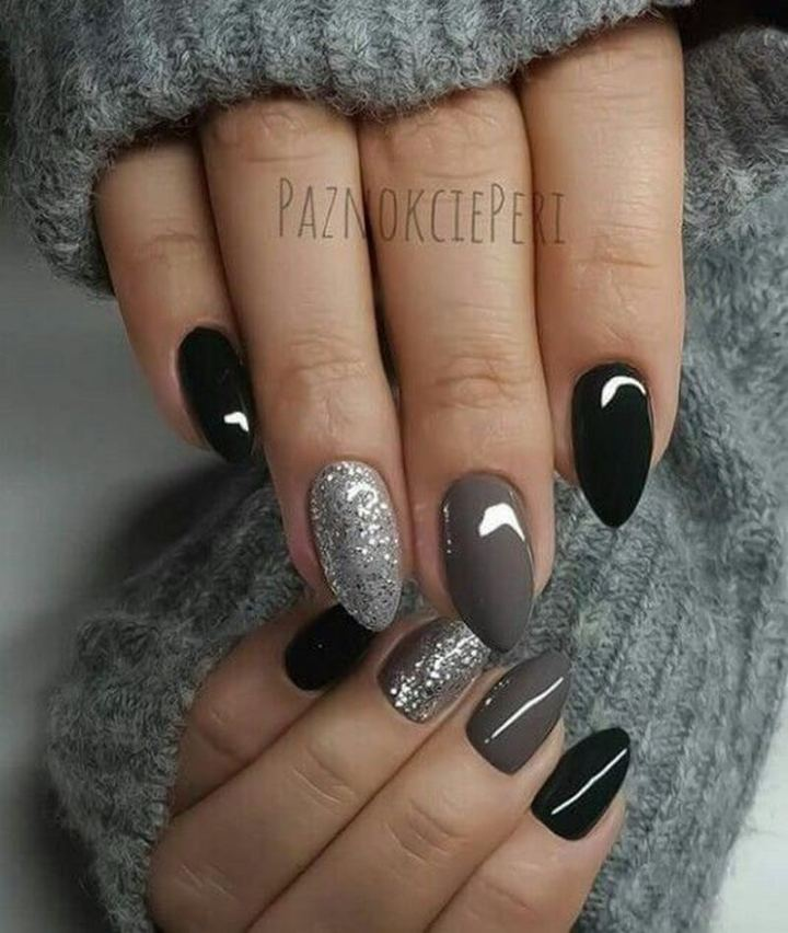 Magnificent almond nails.