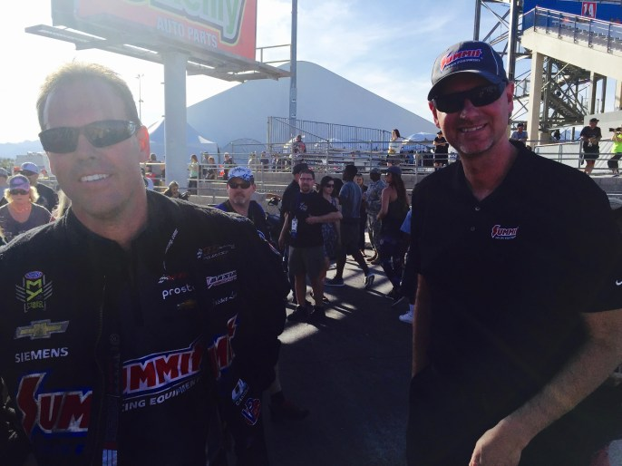 Jason Line with Summit Racing's Jim Greenleaf