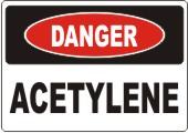 Danger Acetylene safety sign