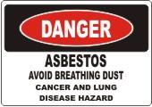 Danger Asbestos safety sign