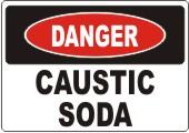 Danger Caustic Soda safety sign