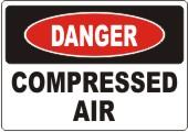 Danger Compressed Air safety sign