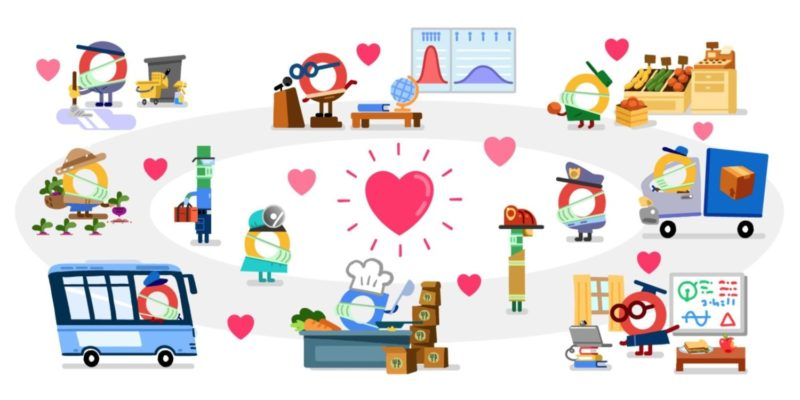 Today wraps up two weeks of Google Doodles that pay tribute to essential workers combating the COVID-19 pandemic. Google has an illustration