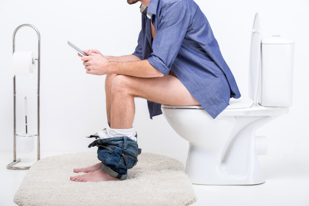 If You Are The Type That Press Mobile Phone In the Toilet, See What Can Happen To.  Research shows that up to 75 per cent of people use their phones on the toilet But doctors warn