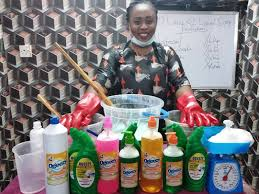 Liquid Soap is used for:  1. Washing of Clothes  2.Washing of Plates  3. Scrubbing, etc.