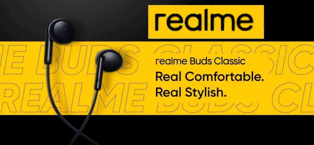 REALME BUDS CLASSIC EARPHONES LAUNCHED FOR RS. 399 (~$5)