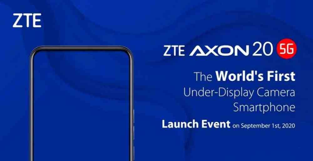 ZTE AXON 20 5G – NI FEI REVEALS THE DISPLAY ON RENDER.