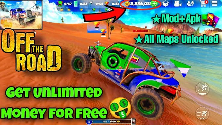 Off The Road Mod Apk 1.5.1 With Unlimited Money & Cars Unblocked download