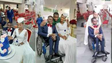 Photo of A Beautiful Lady Marries a man in a wheelchair During Covid-19 Lockdown