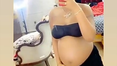 Photo of Regina Daniels Brag About baby bump as she releases more photos and videos About her pregnancy announcement
