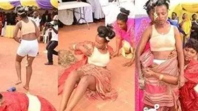 "Photo of Bride Runs Mad After An Attack By An ""Evil Ghost"" on Her Traditional Marriage"