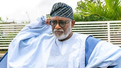 Photo of Ondo state governor Akeredolu tests positive for Covid-19