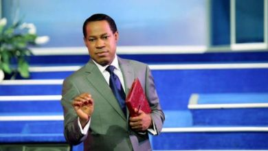 "Photo of US riots are not about Black Lives Matter, they're to disband the ‪police and implant microchips"" – Pastor Chris Oyakhilome‬"