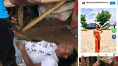 Photo of Lesbian who posted her nud3s picture on social media got beaten by Vigilante (Watch Video)