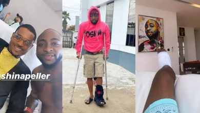 Photo of Hon. Shina Peller pays Davido a sympathy visit over his broken leg .