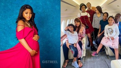 Photo of Regina Daniels and the Nwoko family Seen aboard private jet (Photo)