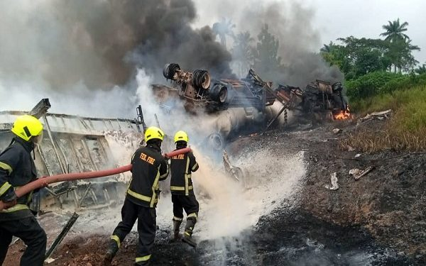 2 died as petrol tanker collides in Osun. No fewer than two persons died as a petrol tanker and a fish- laden truck had head-on collision along Ibadan-Ife