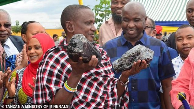 Man who became a millionaire after digging up two huge gemstones worth $3.35m, found another stone worth $2m.   The third discovery by Saniniu Laizer weighed 6.3kg (14lb).