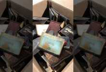 Photo of Woman's stolen wallet discovered in vent with 14 others at old Illinois high school 75 years later