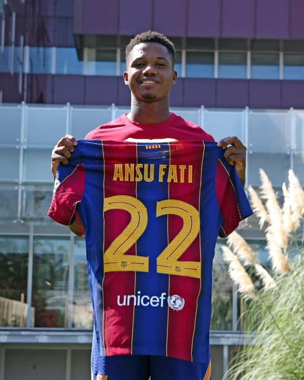 Barcelona Confirm Ansu Fati Squad Number.  So if you were waiting to buy the new Barça shirt until you found out Ansu's number, there you go. It definitely looks pretty cool on him
