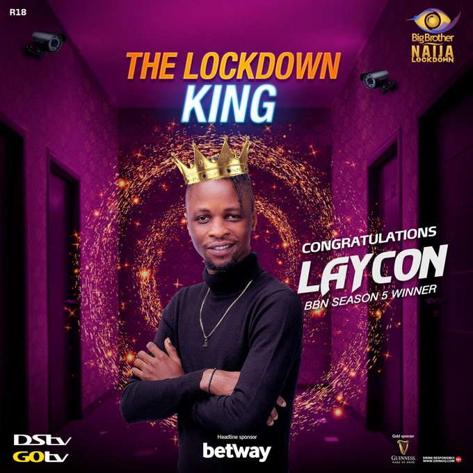 Top 8 things to know about BBNaija 2020 winner Laycon.  Finally, the Big Brother Nigeria Lockdown edition, which took off on Sunday July 19, ended today.