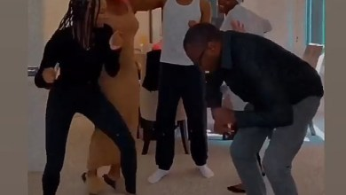 Photo of Femi Otedola dances with his kids at home as they enjoy a fun day together