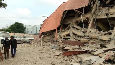 Photo of School building collapses in Lagos