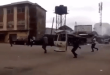 Photo of Police officers filmed shooting sporadically in Abia state this morning