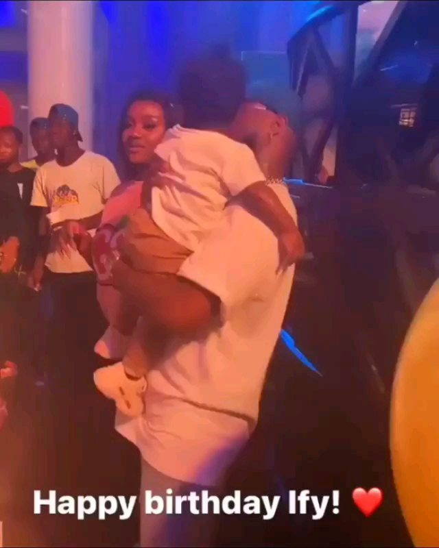 Photos and Videos from Davido and Chioma's son, Ifeanyi's first birthday party.   Singer, Davido and his fiancee, Chioma Rowland, on Wednesday, November 4,