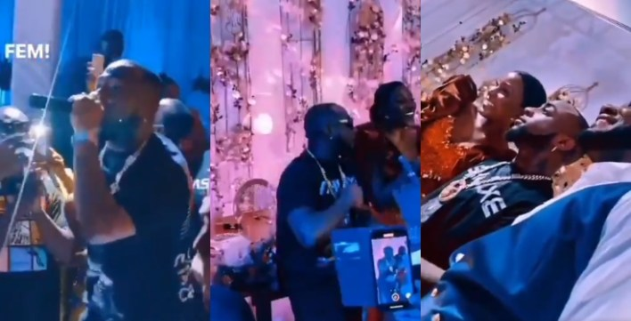 Davido crashes wedding in Ghana, performs for free (Video) DMW boss, Davido put smiles on the faces of a newlywed couple in Ghana.