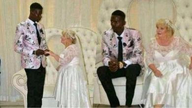 """Nigerian men will always disgrace you"" – Lady reacts as young man weds older white woman"