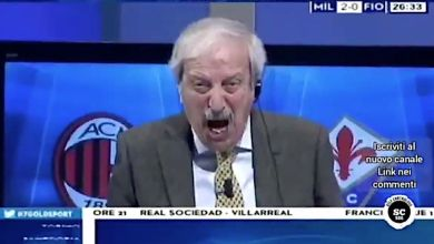 Tiziano Crudeli hilariously breaks into song while celebrating Milan's goals vs. Fiorentina
